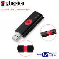 Lecteur Flash USB Original Kingston DT106 clé USB 256 GB 3.1 Type-A clé USB 3.0 jusqu'à 130 mo/s lecteur de stylo U disque