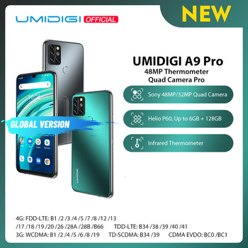 UMIDIGI A9 Pro 32/48MP Quad Camera 24MP Selfie Camera 6GB 128GB Helio P60 Octa Core 6.3'' FHD+ Global Version Cellphone