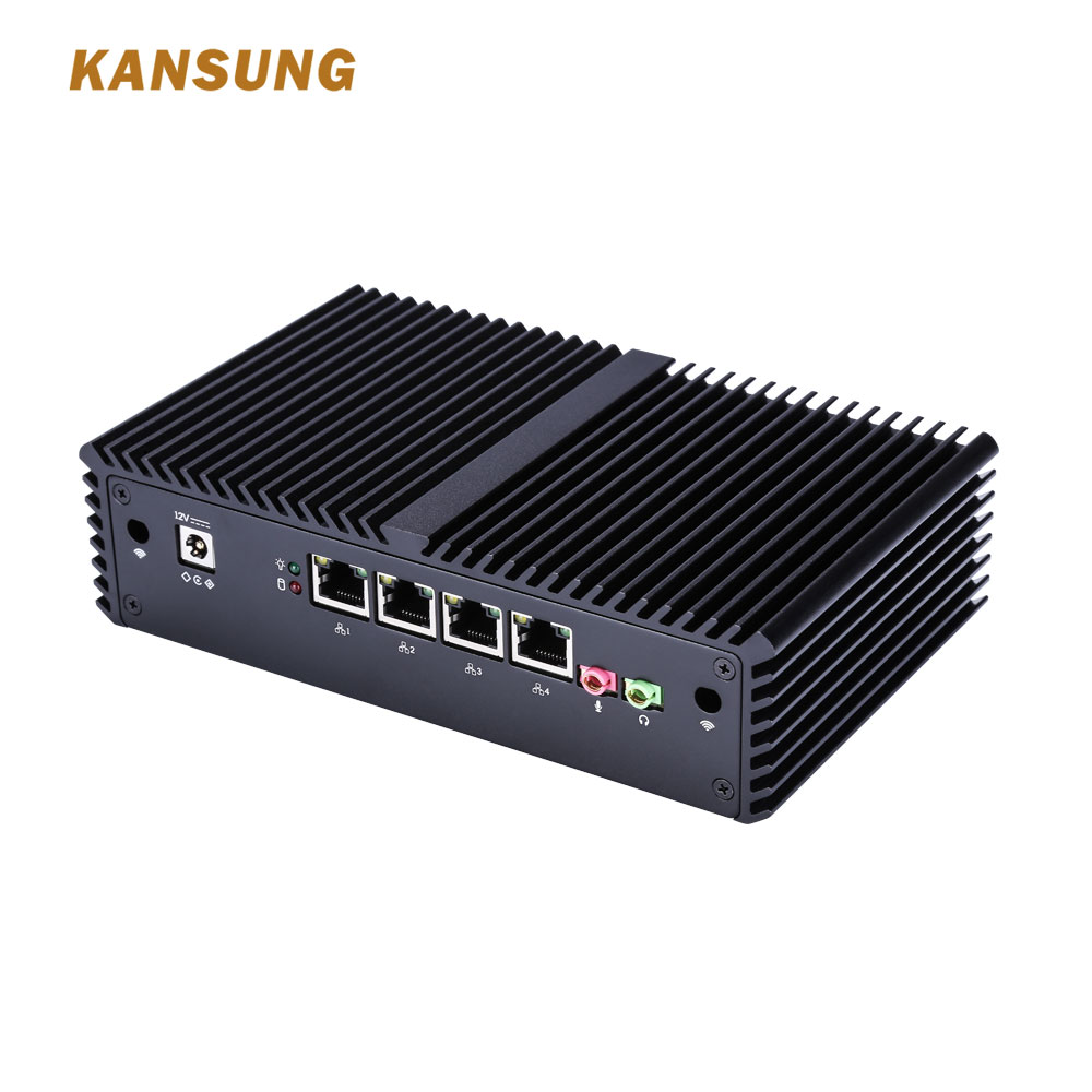KANSUNG Fanless Mini PC With Core3215U  I3 Processor And 4 Gigabit NICs  AES-NI Serial Fanless Windows Linux Mini PC