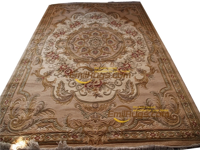 livingroom carpet Antique French  Rug  For Carpets Living Room Plush Wool For Luxury Circular Carpet Wool|Carpet| |  - title=