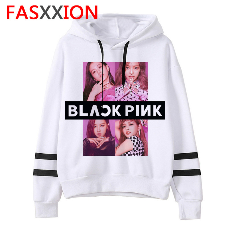Blackpink Kpop Sweatshirt Clothes Women Hip Hop Pink Hoodies New Unisex Fashion Long Sleeve Pullovers Female Ulzzang Aesthetic