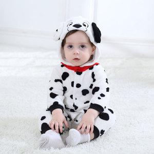 Image 2 - Umorden Baby Dalmatians Spotty Dog Costume Kigurumi Cartoon Animal Rompers Infant Toddler Jumpsuit Flannel Halloween Fancy Dress