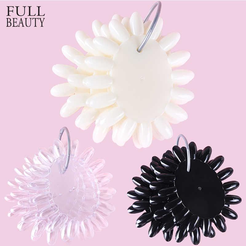 1 Набор накладных ногтей, прозрачные натуральные черные наконечники, пресс-кольцо для ногтей, квадратный маникюр, дизайн ногтей, практичный дисплей, инструменты для дизайна, CH1513-1