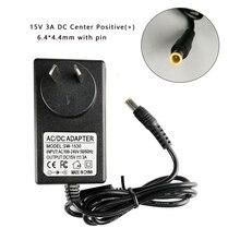 15 v 3A 6.4*4.4 ミリメートル ac/dc アダプタ充電器ソニー SRS X55 SRS BTX500 SRS XB3 ポータブル bluetooth スピーカー電源