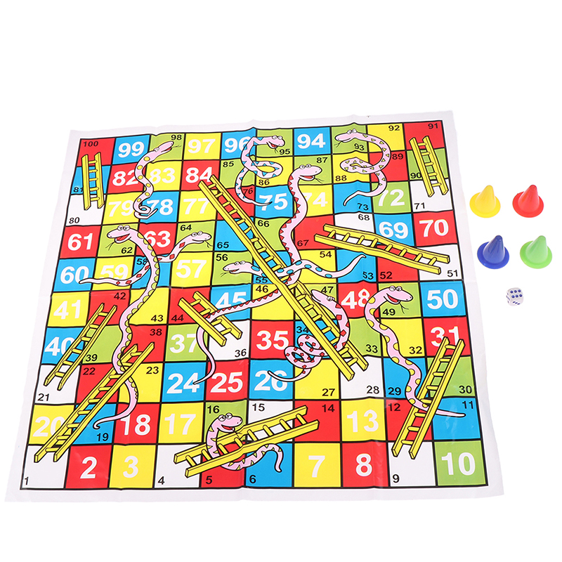 Snake Ladder Educational Kids Children Toys Interesting Board Game Set Portable Flying Chess Board Family Party Game Gifts