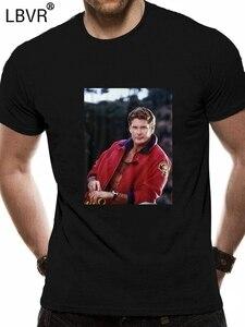 1990S Baywatch Tv Show Mitch Buchannon plaj fotoğraf yetişkin T Shirt David Harajuku Hip Hop tişört