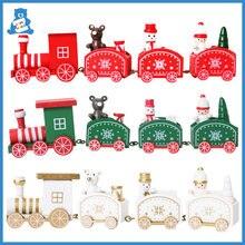 Деревянные игрушки Монтессори Рождественское украшение на поезд