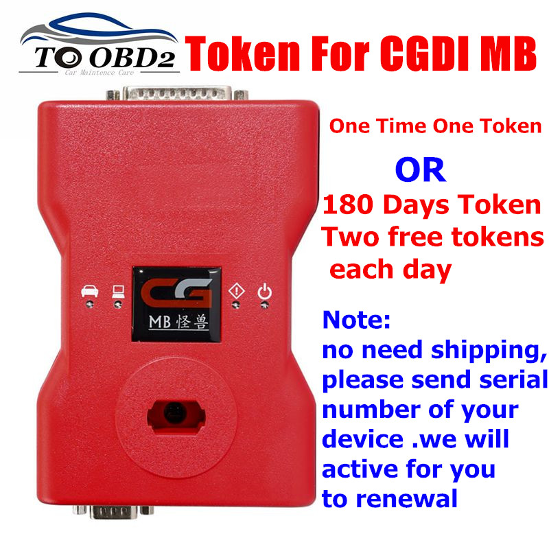 Add Token Service For <font><b>CGDI</b></font> <font><b>Prog</b></font> <font><b>MB</b></font> For Benz Car <font><b>Key</b></font> <font><b>Programmer</b></font> Optional 180 Days Two Free Tokens Each Day OR 1 Token 1 time image