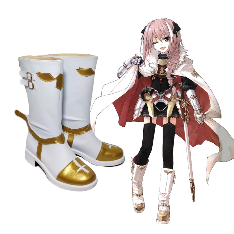 New Fate Grand Order Rider Astolfo Cosplay Shoes PU Leather Anime Cosplay Boots Halloween Party Shoes