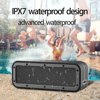цена на Portable Bluetooth Speaker 50w Wireless Bass Column Waterproof Outdoor Speaker Support AUX TF USB Subwoofer Stereo Loudspeaker