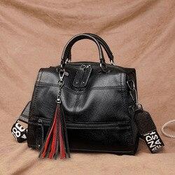 Cумка женская 2020 женские сумки из искусственной кожи высокакачественной Pommax брендовая модная чёрная сумка женская через плечо