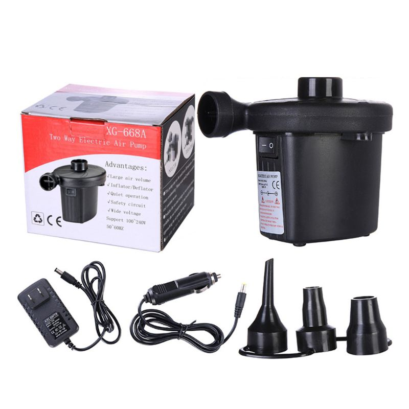12V DC Air Pump For Electric Intex Inflatable Air Mattress Bed Boat Couch Pool Small Household Air Pump K92D