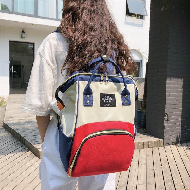Multi-functional Large-Volume MOTHER'S Bag Waterproof Oxford Mummy Backpack Feeding Bottle Diaper Backpack
