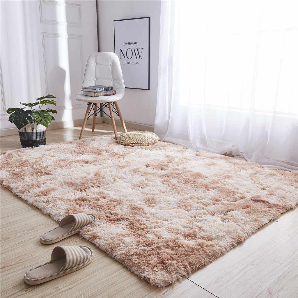 Living Room/Bedroom Rug Ultra Soft Modern Area Rugs Shaggy Nursery Rug Home Room Plush Carpet Decor 120x60cm Modern Carpet Mat