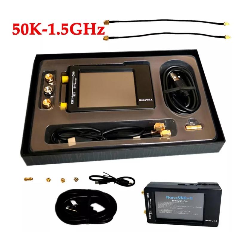 NanoVNA-H Vector Network Analyzer Antenna Analyzer Standing Wave 50KHz-900MHz Digital Touching Screen Shortwave MF HF VHF UHF