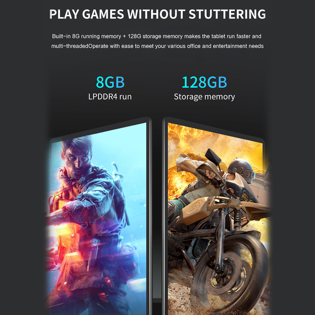 6GB RAM 128GB ROM Kids Tablet PC 10.1 Inch Tablet Android 9.1 GPS 4G SIM WIFI Bluetooth 10 Core IPS HD Screen Phone Call 2021 4