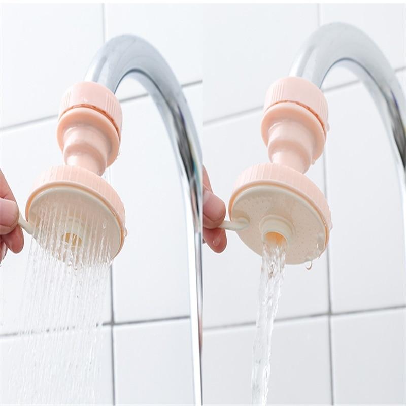 Kitchen faucet shower splash water saving head adjustable nozzle rotating accessories