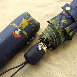 Image 3 - OLYCAT Automatische Regenschirm Regen Frauen Marke Cartoon Print Sonnenschutz Klapp Schirme Winddicht Anti UV Sonnenschirm 5 Arten Paraguas