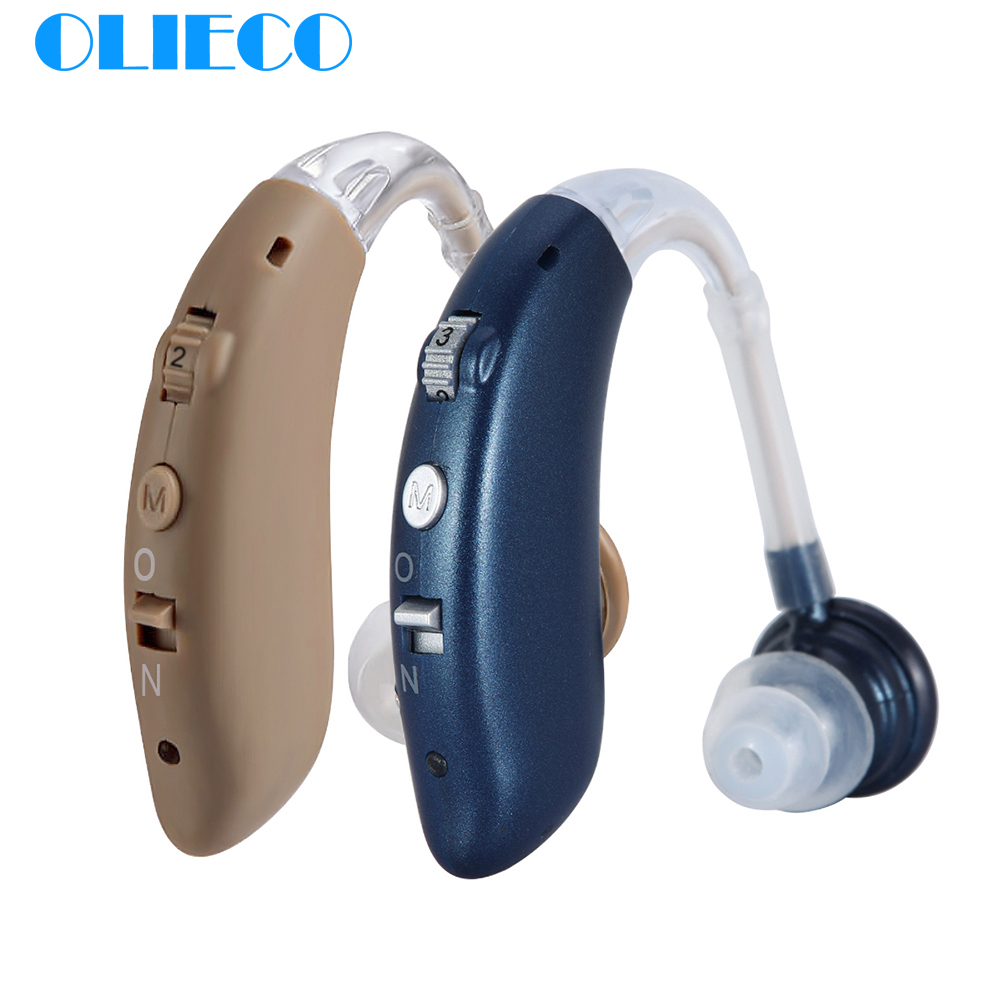 USB Rechargeable Mini Hearing Aids BTE For The Elderly Portable Behind The Ear Sound Amplifier Adjustable Resound Hearing Device