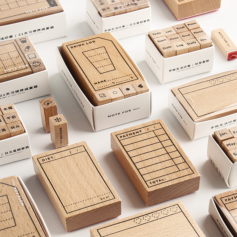 1 Pc Vintage Multi-function Form Stamp DIY Wooden Rubber Stamps For Scrapbooking Stationery Scrapbooking Standard Stamp