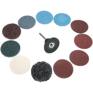60 шт. 2 дюйма 50 мм рулонный замок поверхность шлифовальные диски Pad полировальная наждачная бумага для металлических пластиковых абразивных...