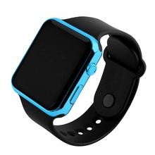 Men LED Digital Watch Boys Silicone Electronic Watch Sport Digital LED Screen Outdoor Plating Watch Boy Girl Gift Dress Watch cheap OLEVS Alloy 24cminch No waterproof Leather Deployment Bucket Square 21mm Acrylic LED display Auto Date men s watch No package