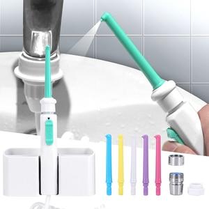 Image 3 - 6 ugello Rubinetto Orale Irrigator Acqua Flosser Dentale Portatile Irrigador Getto Dacqua Dentale Spazzolino Da Denti Oral Irrigazione Pulizia Dei Denti