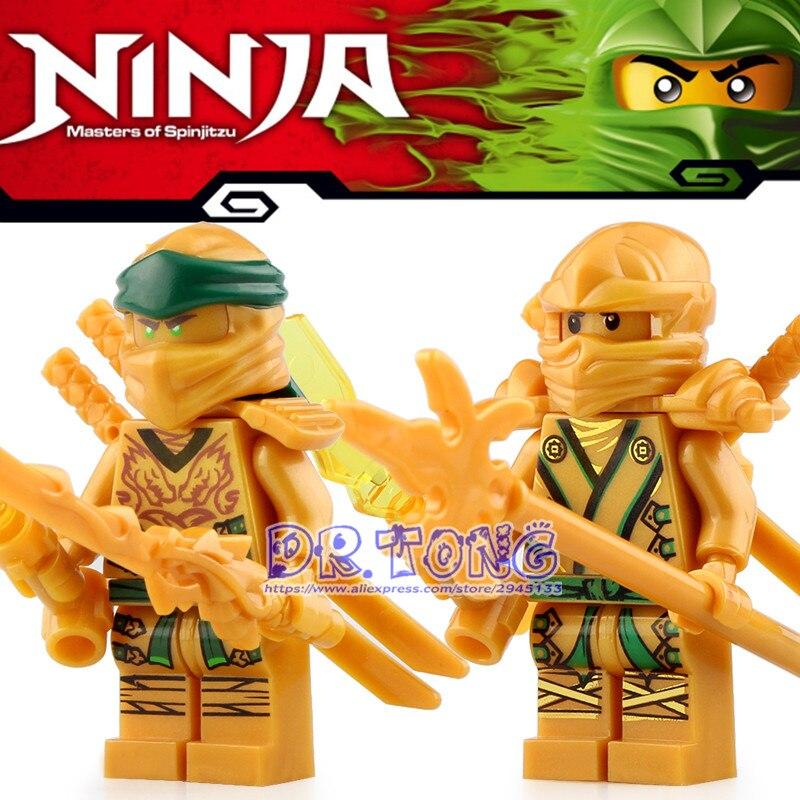50pcs blocs de construction Pythor Yang Kai Zane général Kozu serpent Wu glace empereur or jouets pour enfants GA132 + GA140