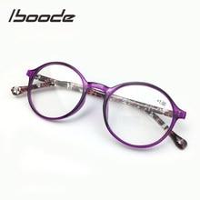 Iboode-gafas para leer para mujer, lentes redondas antirayos azules, presbicia, TR90, Visión de lejos ultraligera, gafas de hipermetropía + 1,0 a 4,0