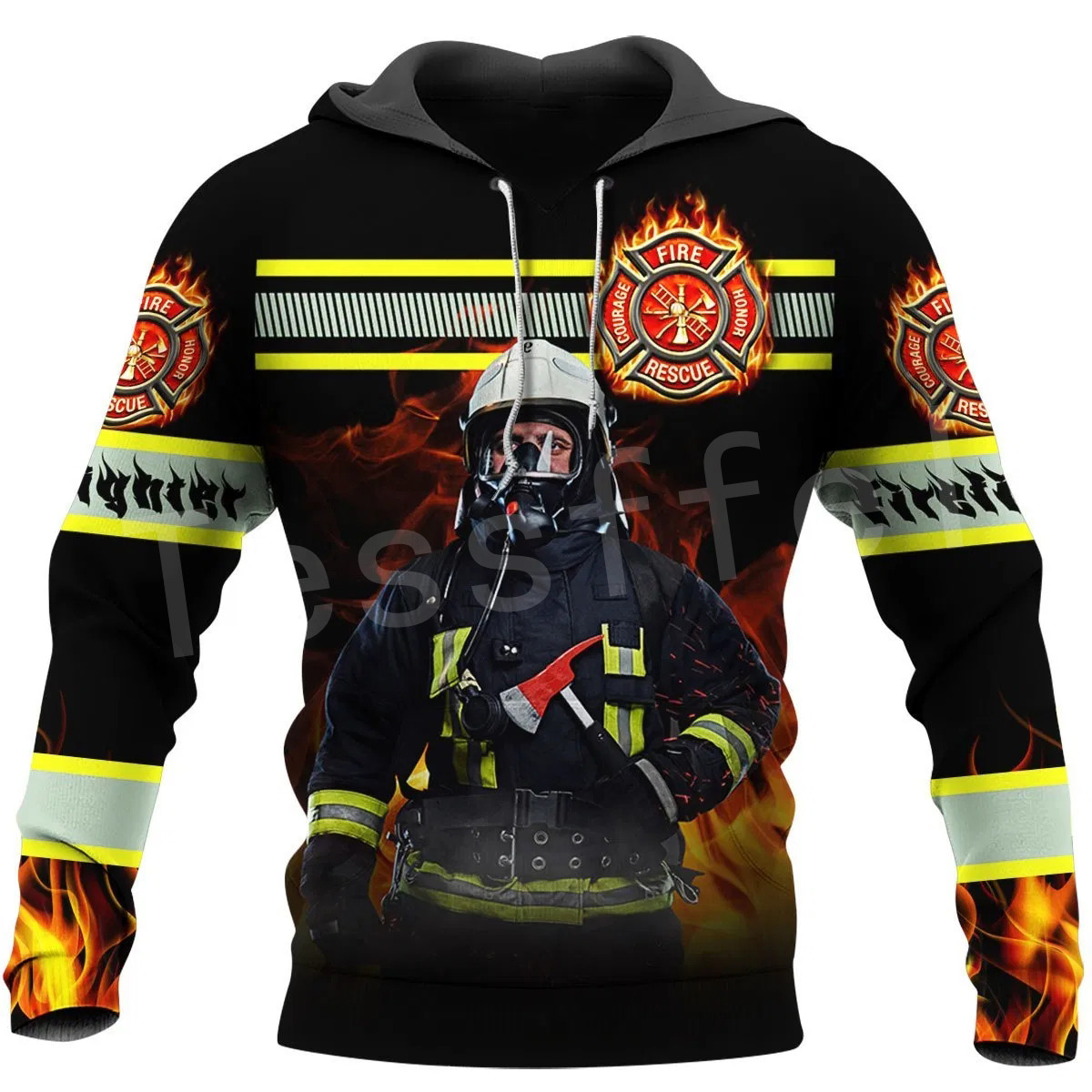 Tessffel Firefighters Suit Firemen Hero Harajuku Pullover NewFashion Funny Unisex 3DPrint Zipper/Hoodies/Sweatshirts/Jacket A-13