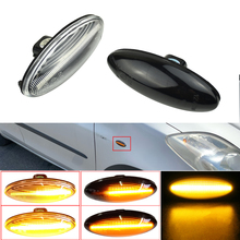 Led carro dinâmico blinker sequencial lâmpada lado marcador de volta sinal luz para toyota yaris mk2 corolla auris mk1 e15 rav4 mk3