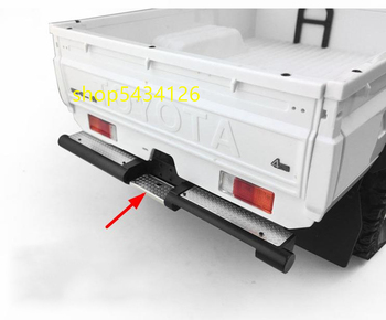 Metal Rear Bumper For 1/10 RC-4WD TF2 LWB Chassis + Toyota Killerbody LC70 Body image