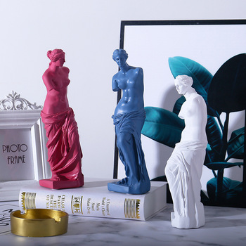 Nordic Venus Character Sculpture Resin Goddess Statue Home Decoration Accessories Attic Statue Modern Craft Gift 1