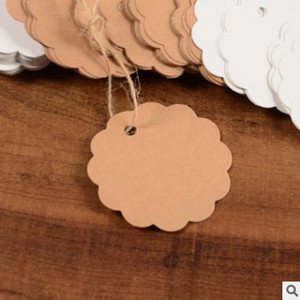 100 pieces of natural kraft paper, DIY blank can be graffiti jute gift label, clothing label, handmade, clothing label