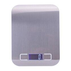 Stal nierdzewna cyfrowa waga kuchenna USB 10Kg/elektroniczna precyzyjna waga do żywności Post na gotowanie pieczenia narzędzia pomiarowe w Wagi kuchenne od Dom i ogród na