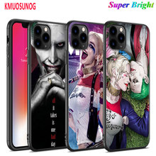 Black Silicone Case Joker and Harley Quinn for iPhone 11 11Pro XS MAX XR X 8 7 6S 6 Plus 5S Gloss Phone Cover