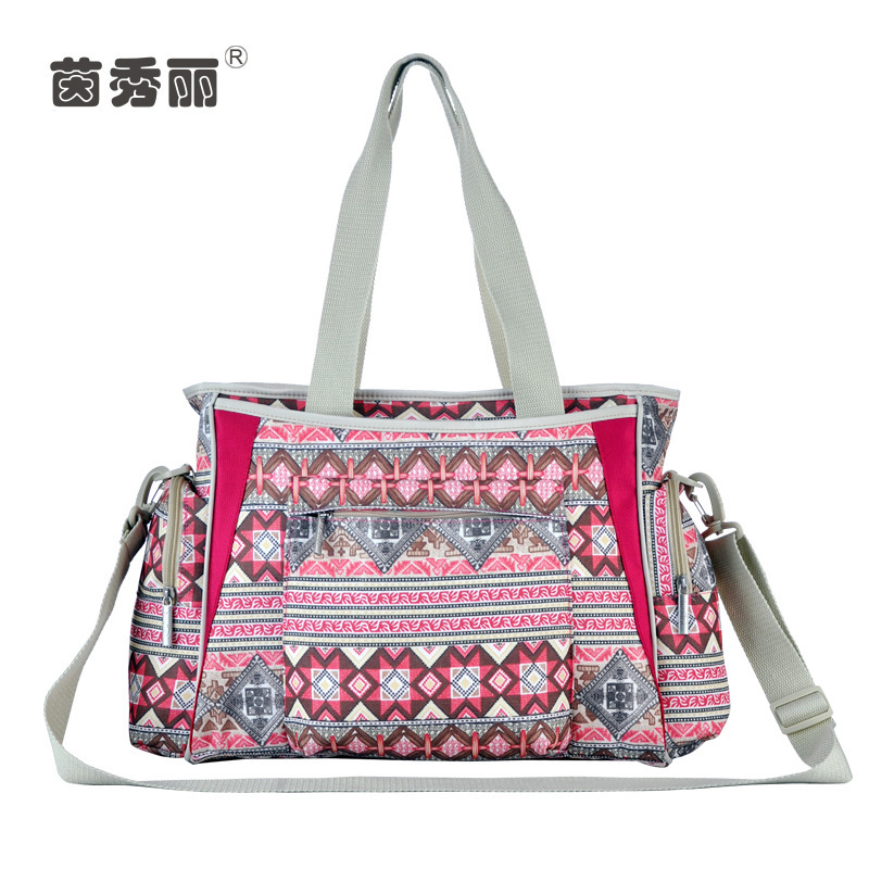 Insular New Style Diaper Bag Canvas Mommy Bag Multi-functional Large Capacity Shoulder MOTHER'S Bag Cross Border Hot Sales