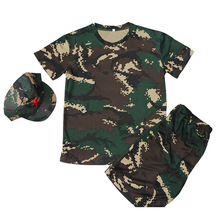 Pants Military-Clothing Scouting Kids Army Camouflage Children Sets Tops Short-Sleeve