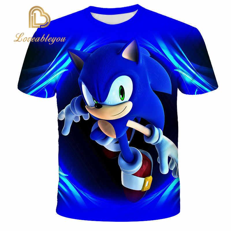 Ragazzi Mario Super sonic Sonic Stampa Vestiti Delle Ragazze 3D Divertente T-Shirt Costume Dei Bambini 2020 Vestiti di Estate Dei Bambini Magliette Magliette Del Bambino