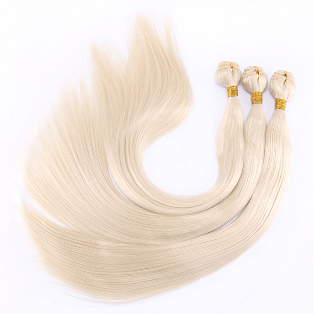 FSR 100 gram/pcs 613# Straight Hair Weaving 14-30 Inch Synthetic Hair Extensions double weft hair Bundles 3