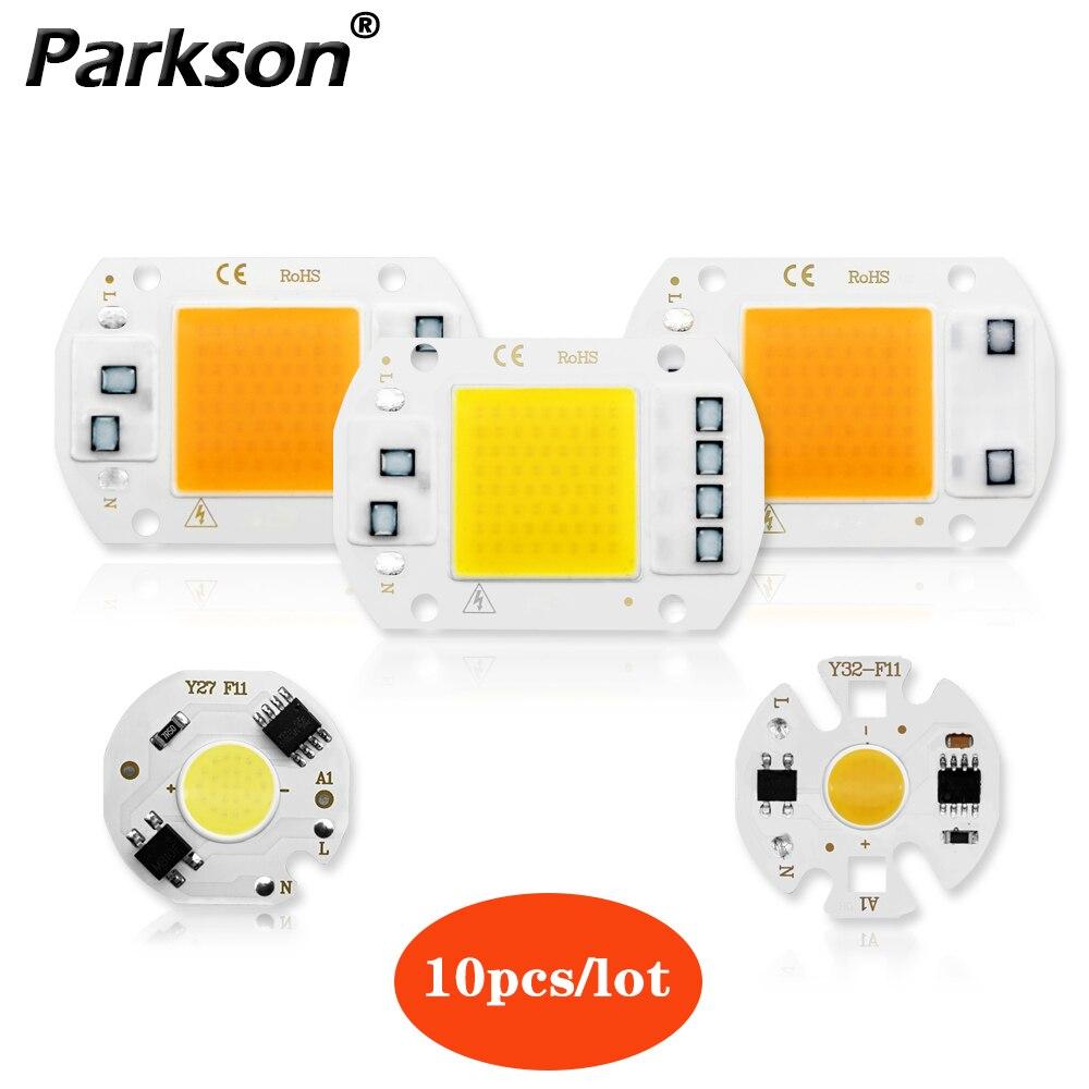10pcs/lot COB LED Lamp Chip 3W 5W 7W 10W 20W 30W 50W 220V No Need Driver LED Light Bulb For Spotlight Floodlight DIY Lighting