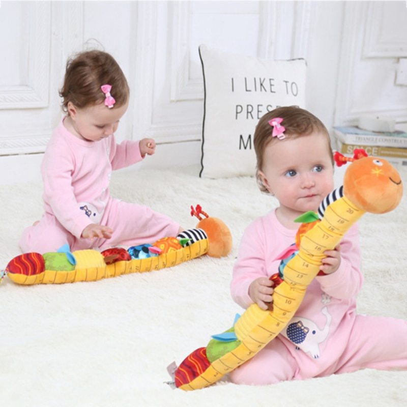Baby Rattles Toys Stroller Musical Soft Toy Cute Animal Doll Baby Crib Bed Early Educational Bells Toys Caterpillar