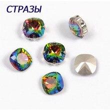CTPA3bI 4470 Crystal Vitrail Medium Color Charms For Making Jewelry Bracelet Fancy Beads Rhinestone Cushion Cut Shape Berloque