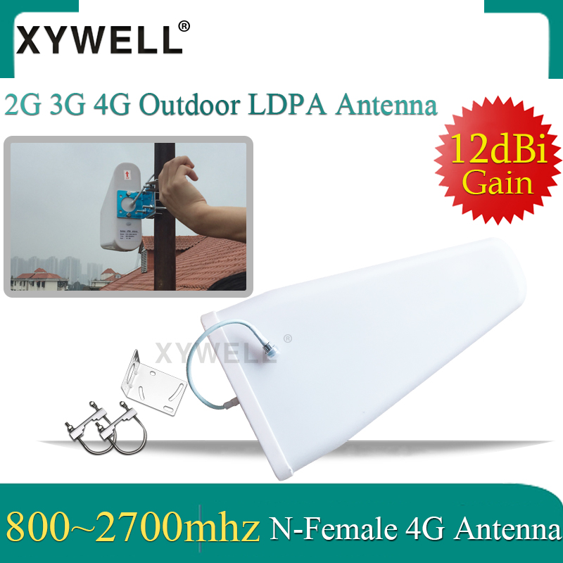 XYWELL 2G 3G 4G Antenna12dBi High Gain 800-2700mhz Outdoor LPDA Yagi Antenna For 3G 4G GSM Cell Phone Signal Booster Repeater