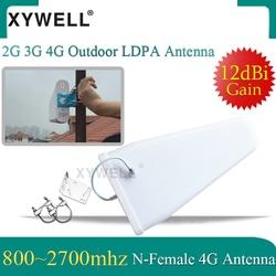 Xywell 2G 3G 4G Antenna12dBi Cao Tăng 800-2700 MHz Ngoài Trời Lpda Yagi Ăng Ten Cho 3G 4G GSM Tín Hiệu Điện Thoại Booster Repeater