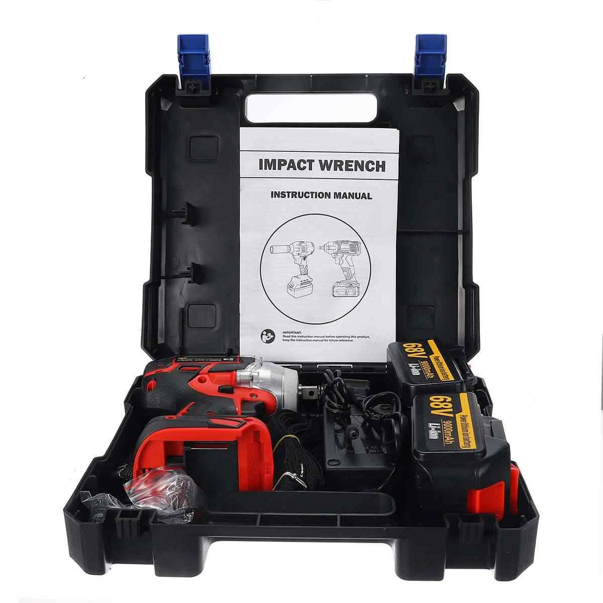 68V 9000mAh llave eléctrica de impacto sin escobillas llave de enchufe Instalación de taladro manual 520N. M herramientas eléctricas para rueda de coche/SUV