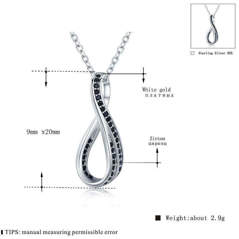 High Quality 925 Sterling Silver Fine Jewelry Trendy Engagement Necklaces for Women Wedding Necklaces Pendants P136