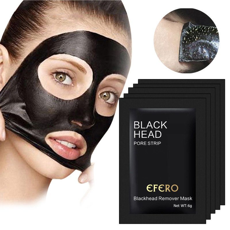 1 Pcs Blackhead Remover Face Mask Purifying Blackhead Bamboo Charcoal Black Mask Deep Cleansing Black Mud Mask Skin Care TSLM1