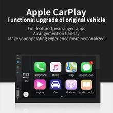 7 Polegada 2 din rádio carro carplay tela sensível ao toque estéreo rádio fm bluetooth gps mp5 player para android/ios conexão espelho