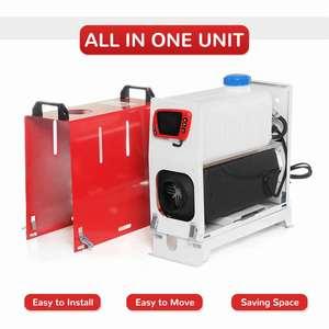 Image 3 - Tudo em uma unidade 8000w 12v aquecedor de carro ferramenta calor diesel aquecedor único furo lcd monitor estacionamento mais quente para o caminhão carro ônibus barco rv